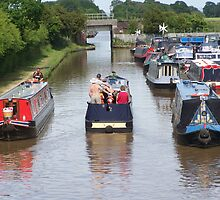 ships passing on the canal at Venetian Marina,Cholmondeston by shawn50