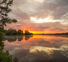 Sunrise on Craigavon Lakes by Christopher Cosgrove