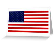 USA flag with hemp leaves Greeting Card