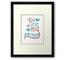 My person Framed Print