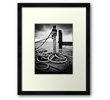 Hemp rope Framed Print