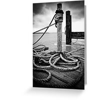 Hemp rope Greeting Card