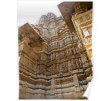 Temples at Khajuraho Poster