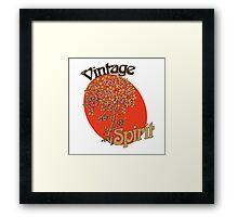 Vintage spirit Framed Print