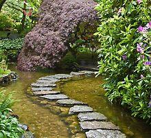 Japanese Garden, Butchart Gardens, Victoria, B.C. by Barb White