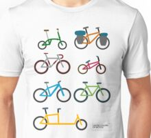 UNITED COLORS OF BICYCLES. Unisex T-Shirt