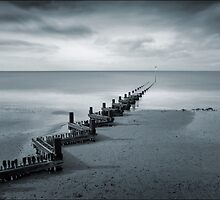 Hunstanton Beach in Blue, Norfolk by DaveTurner