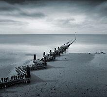 Hunstanton Beach in Blue, Norfolk by DaveTurner