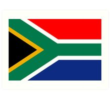 South African Flag Art Print