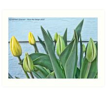 Yellow Buds Art Print