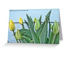 Yellow Buds Greeting Card