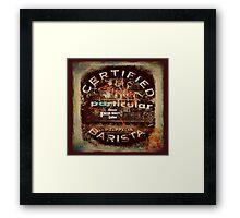 Certified Barista Framed Print