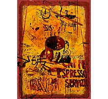 Cafe Espresso Servizio Photographic Print