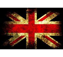 UK Grunge Flag Photographic Print
