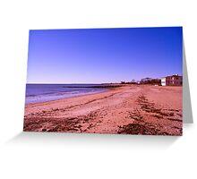 White Sand Beach Greeting Card
