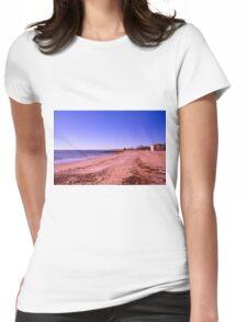 White Sand Beach Womens Fitted T-Shirt