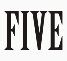 5, FIVE, NUMBER 5, FIFTH, TEAM SPORTS, Competition, BLACK Kids Clothes
