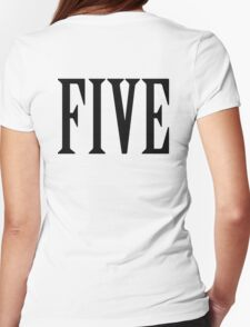5, FIVE, NUMBER 5, FIFTH, TEAM SPORTS, Competition, BLACK T-Shirt