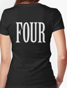 FOUR, 4, TEAM SPORTS, NUMBER 4, FOURTH, Competition, WHITE T-Shirt