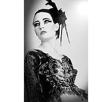 Black and White Swan Photographic Print