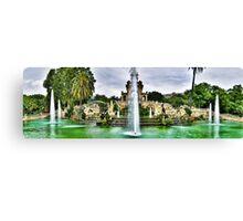 Fontaine du parc de La Ciutadella Canvas Print