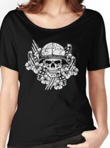 Tropical Print (Military Edition) BW Women's Relaxed Fit T-Shirt
