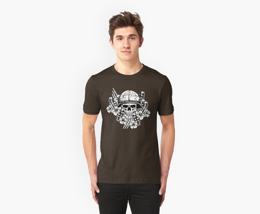 Tropical Print (Military Edition) BW by ZugArt