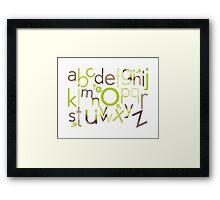 TYPOGRAPHY :: trendy alphabet 1 Framed Print
