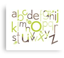 TYPOGRAPHY :: trendy alphabet 1 Canvas Print