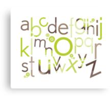 TYPOGRAPHY :: trendy alphabet 1 Canvas Print