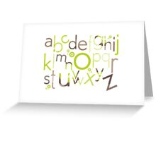 TYPOGRAPHY :: trendy alphabet 1 Greeting Card