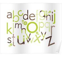 TYPOGRAPHY :: trendy alphabet 1 Poster