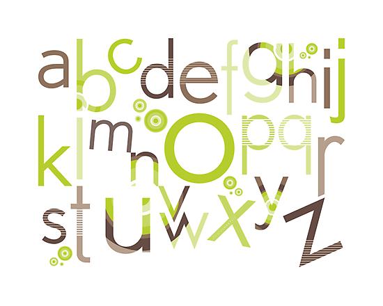 TYPOGRAPHY :: trendy alphabet 1 by Kat Massard