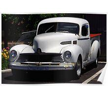 Classic White Pickup Poster