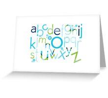 TYPOGRAPHY :: trendy alphabet 2 Greeting Card