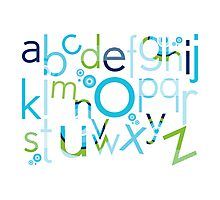 TYPOGRAPHY :: trendy alphabet 2 Photographic Print
