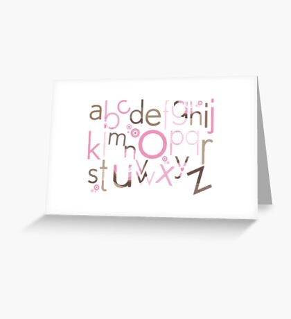 TYPOGRAPHY :: trendy alphabet 3 Greeting Card