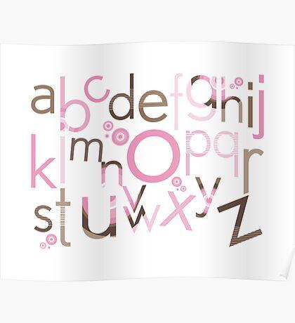 TYPOGRAPHY :: trendy alphabet 3 Poster