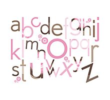 TYPOGRAPHY :: trendy alphabet 3 Photographic Print