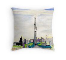 The Dubai Tower Throw Pillow