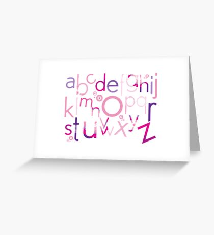 TYPOGRAPHY :: trendy alphabet 4 Greeting Card
