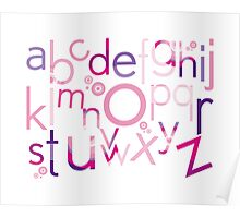 TYPOGRAPHY :: trendy alphabet 4 Poster