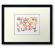 TYPOGRAPHY :: trendy alphabet 5 Framed Print
