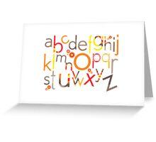 TYPOGRAPHY :: trendy alphabet 5 Greeting Card
