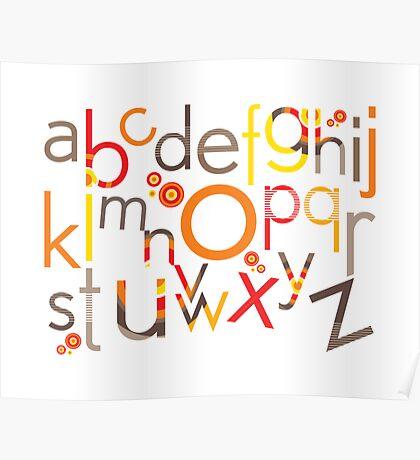TYPOGRAPHY :: trendy alphabet 5 Poster
