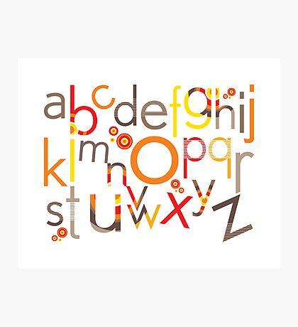 TYPOGRAPHY :: trendy alphabet 5 Photographic Print