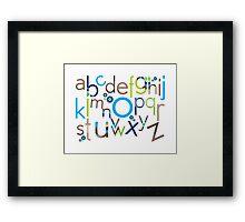 TYPOGRAPHY :: trendy alphabet 6 Framed Print