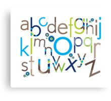 TYPOGRAPHY :: trendy alphabet 6 Canvas Print
