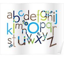 TYPOGRAPHY :: trendy alphabet 6 Poster