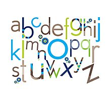 TYPOGRAPHY :: trendy alphabet 6 Photographic Print
